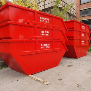 8 m3 statybiniai konteineriai